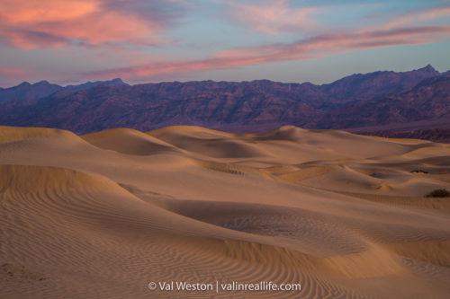 mesquite dunes sunset death valley - val in real life