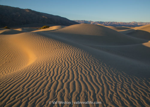 mesquite flats sand dunes sunrise - val in real life