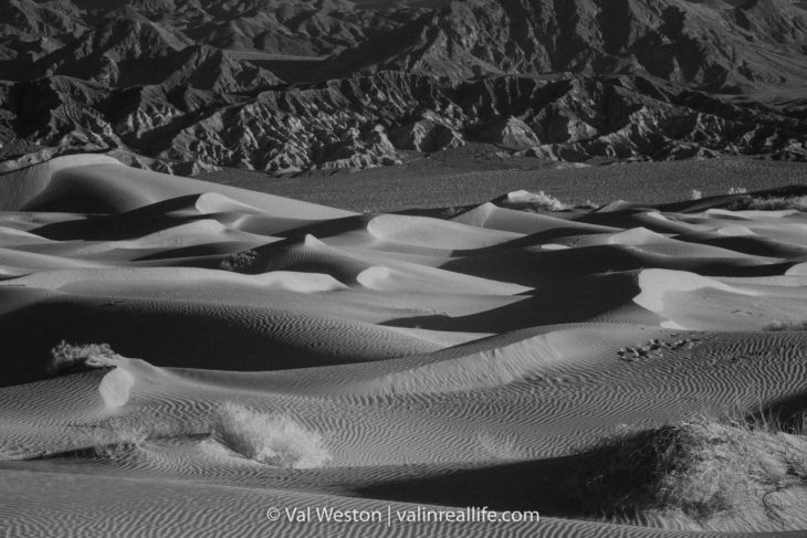 mesquite sand dunes death valley - val in real life