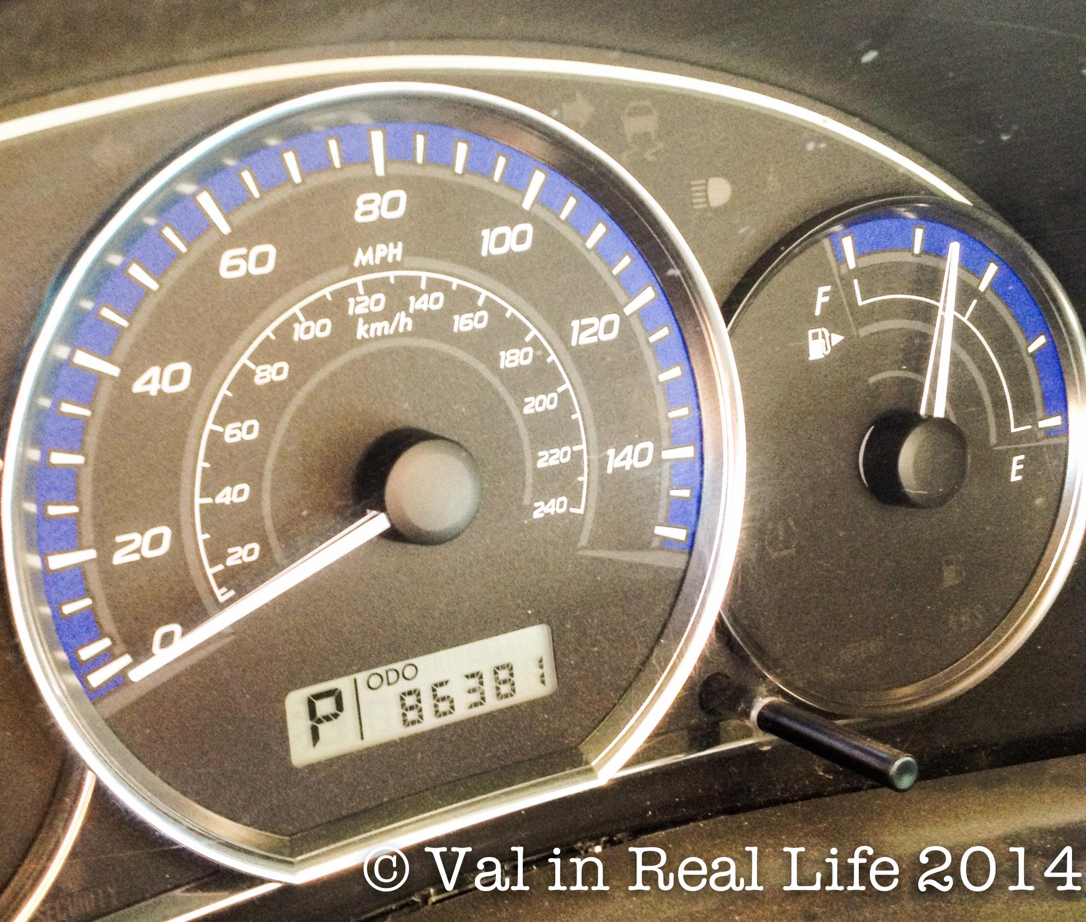 subaru gauges