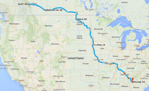 The biggest drive of my life, including an all-nighter.