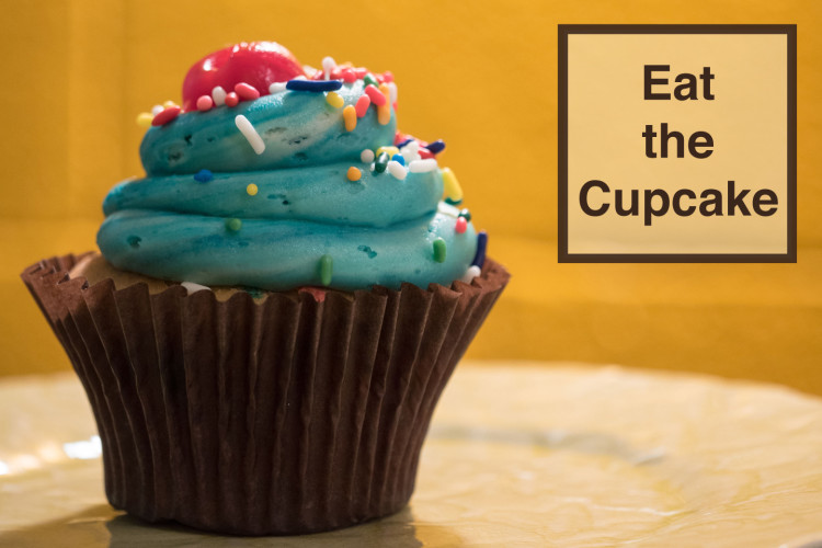 eat the cupcake - val in real life