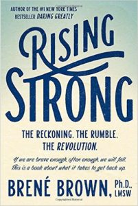 Brene' Brown's Rising Strong on Amazon
