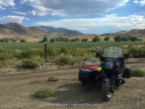 bmw ural sidecar rig in nevada - val in real life