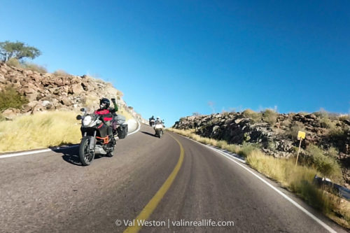 motorcycling baja - val in real life