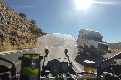 truck crash in baja - val in real life