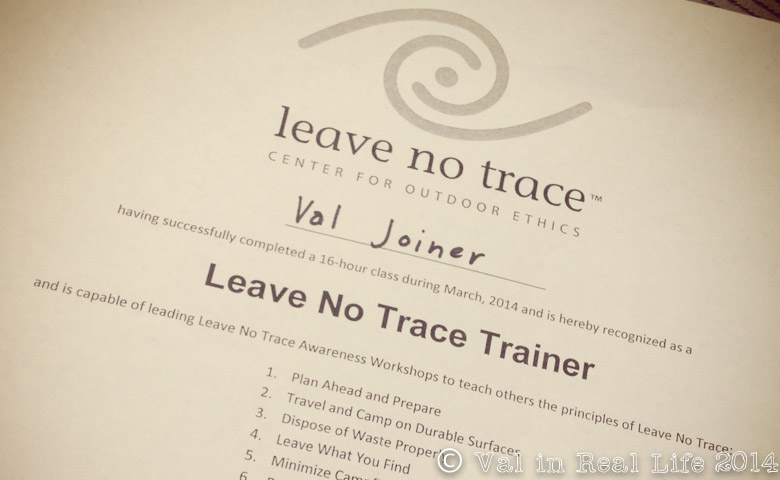 Adventures In Leave No Trace Training Val In Real Life