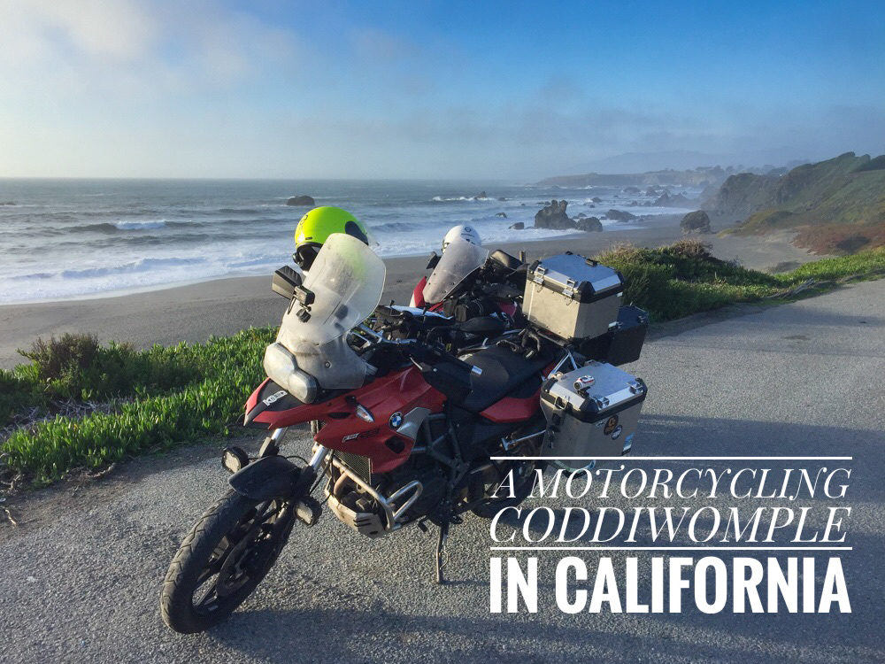 motorcycling coddiwomple in california - val in real life